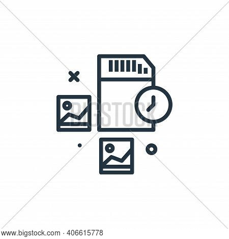 memory card icon isolated on white background from work from home collection. memory card icon thin