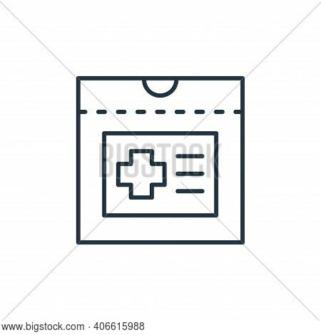 medical report icon isolated on white background from retirement collection. medical report icon thi