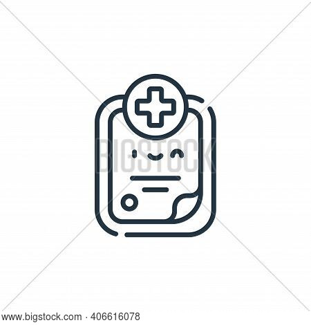 medical history icon isolated on white background from medical services collection. medical history