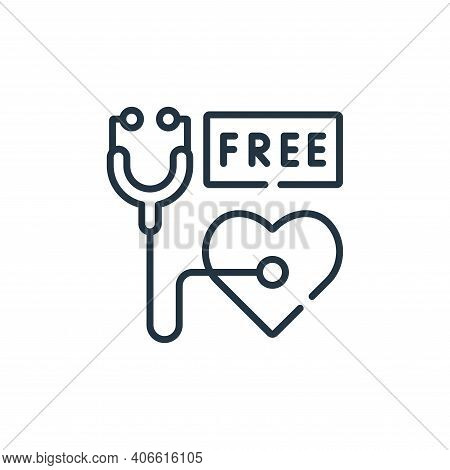 medical check icon isolated on white background from kindness collection. medical check icon thin li