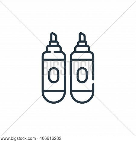 markers icon isolated on white background from children toys collection. markers icon thin line outl