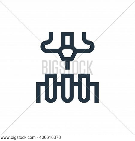 manufacturing icon isolated on white background from manufacturing collection. manufacturing icon th