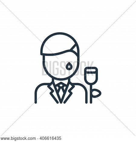 man icon isolated on white background from funeral collection. man icon thin line outline linear man