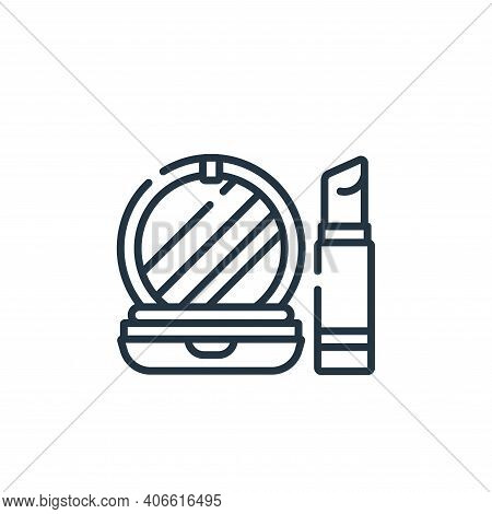 makeup icon isolated on white background from hairdressing and barber shop collection. makeup icon t