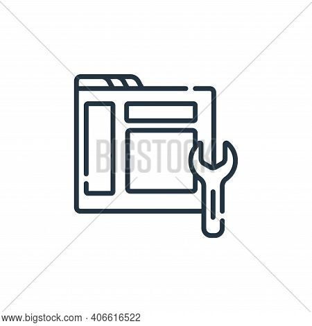 maintenance icon isolated on white background from web development collection. maintenance icon thin