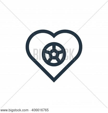 love icon isolated on white background from soccer collection. love icon thin line outline linear lo