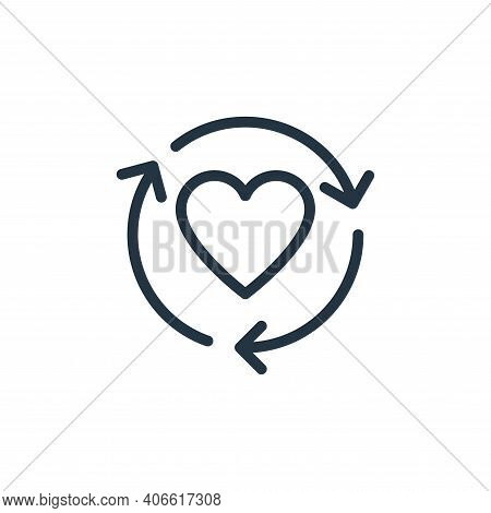 like icon isolated on white background from data transfer collection. like icon thin line outline li