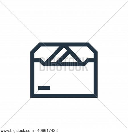letter icon isolated on white background from payment collection. letter icon thin line outline line