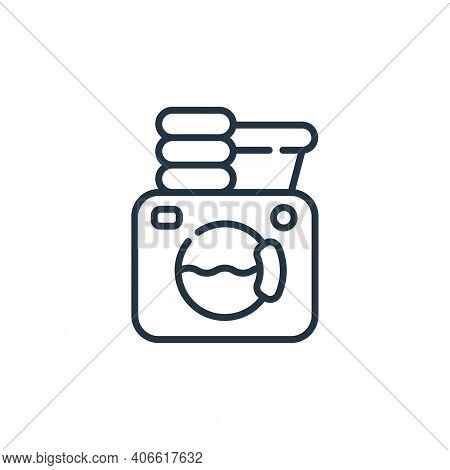 laundry icon isolated on white background from family life collection. laundry icon thin line outlin