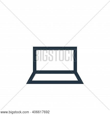 laptop icon isolated on white background from electronics collection. laptop icon thin line outline