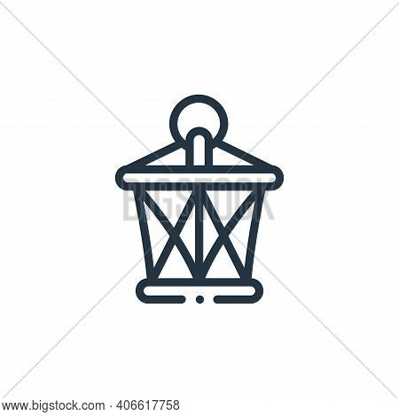 lantern icon isolated on white background from videogame elements collection. lantern icon thin line