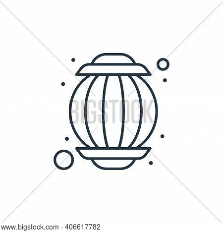 lantern icon isolated on white background from islam and ramadan collection. lantern icon thin line