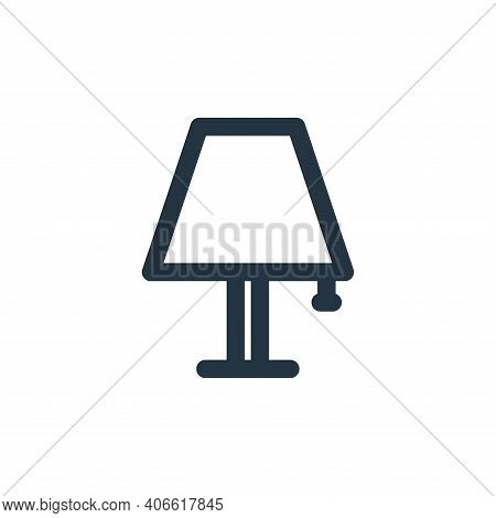 lamp decor icon isolated on white background from holiday collection. lamp decor icon thin line outl