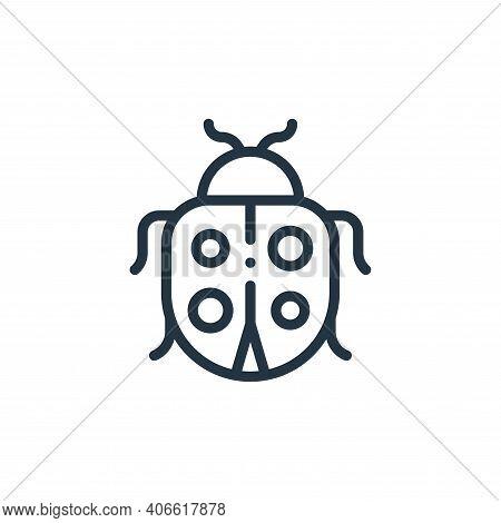 ladybug icon isolated on white background from ecology collection. ladybug icon thin line outline li