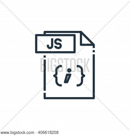 js file icon isolated on white background from file type collection. js file icon thin line outline