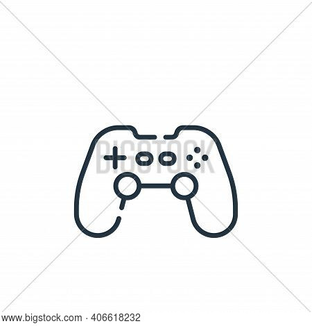 joystick icon isolated on white background from children toys collection. joystick icon thin line ou