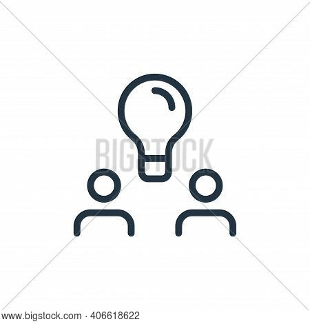 innovation icon isolated on white background from work office and meeting collection. innovation ico