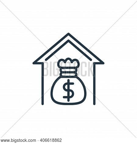 income icon isolated on white background from work from home collection. income icon thin line outli