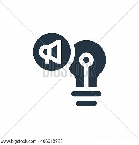 idea icon isolated on white background from advertisement collection. idea icon thin line outline li