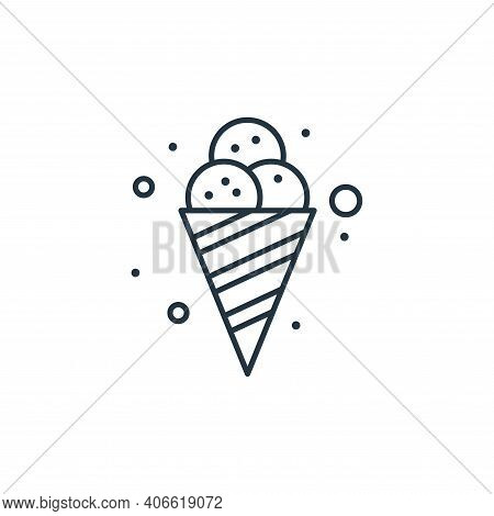ice cream icon isolated on white background from brazilian carnival collection. ice cream icon thin