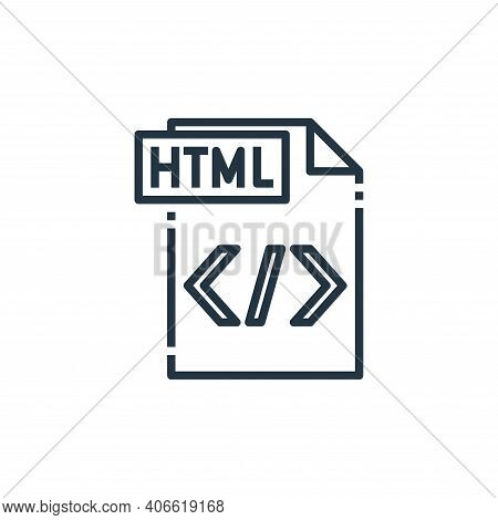 html file icon isolated on white background from file type collection. html file icon thin line outl