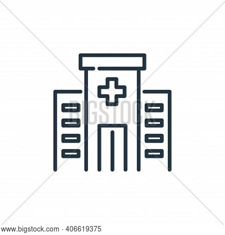 hospital facility icon isolated on white background from insurance collection. hospital facility ico