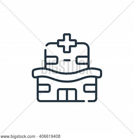 hospital icon isolated on white background from medical services collection. hospital icon thin line