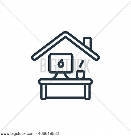 home office icon isolated on white background from self isolation collection. home office icon thin
