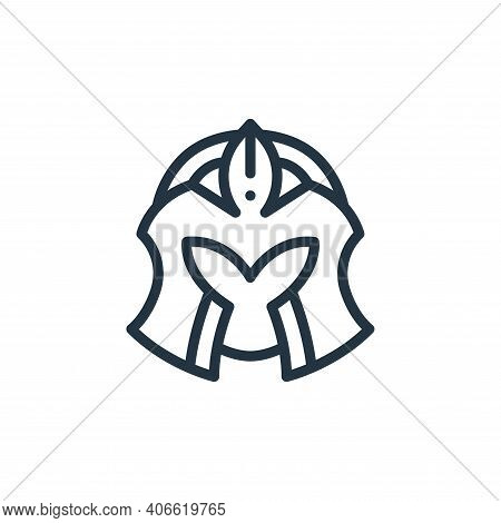 helmet icon isolated on white background from videogame elements collection. helmet icon thin line o