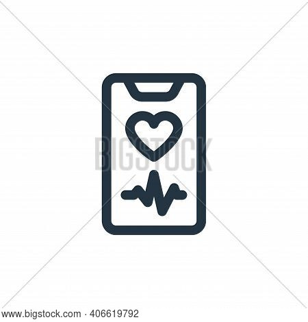 heart rate icon isolated on white background from health collection. heart rate icon thin line outli