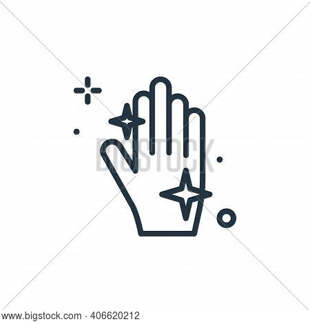 hand icon isolated on white background from hygiene collection. hand icon thin line outline linear h