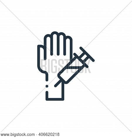 hand icon isolated on white background from medicine collection. hand icon thin line outline linear