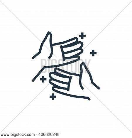 hand icon isolated on white background from washing hand collection. hand icon thin line outline lin