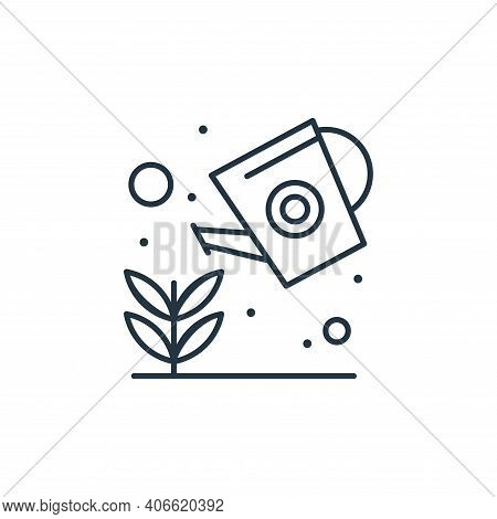 growing seed icon isolated on white background from earth day collection. growing seed icon thin lin