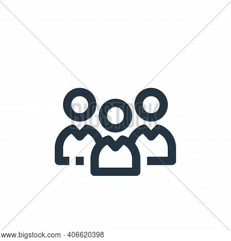 group icon isolated on white background from medical kit collection. group icon thin line outline li