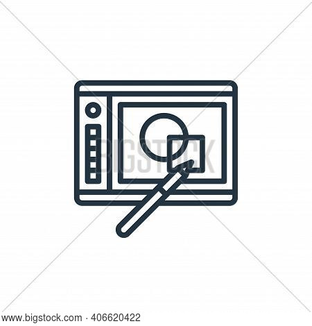 graphic tablet icon isolated on white background from graphic design collection. graphic tablet icon