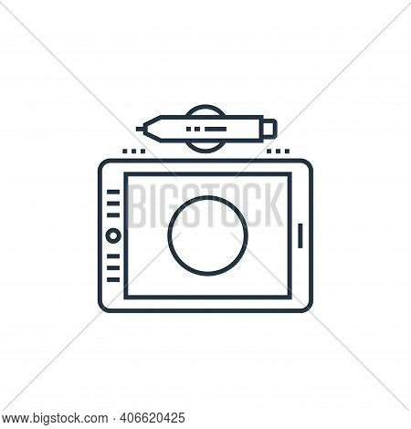 graphic tablet icon isolated on white background from technology devices collection. graphic tablet