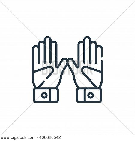 gloves icon isolated on white background from baseball collection. gloves icon thin line outline lin