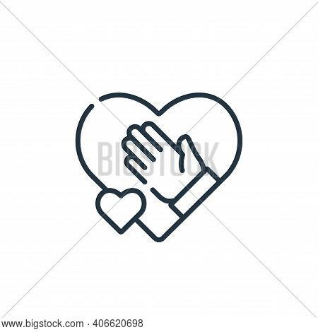 give icon isolated on white background from kindness collection. give icon thin line outline linear
