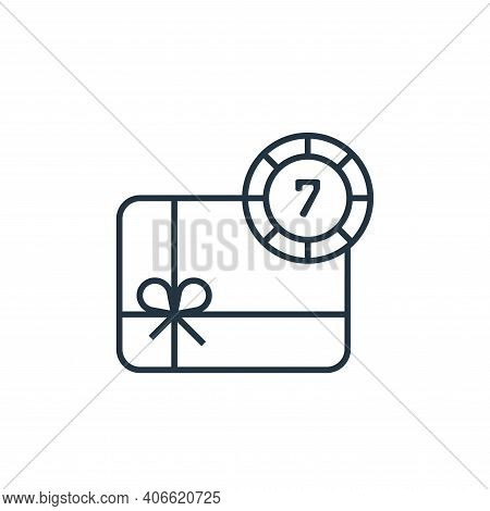 gift box icon isolated on white background from casino collection. gift box icon thin line outline l