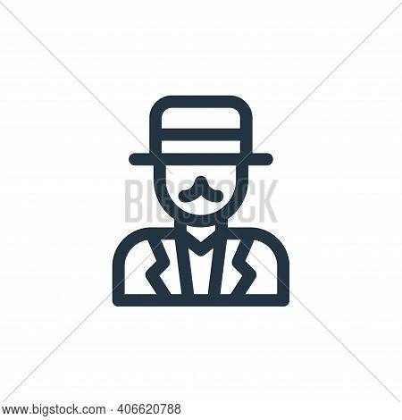 gentleman icon isolated on white background from england collection. gentleman icon thin line outlin