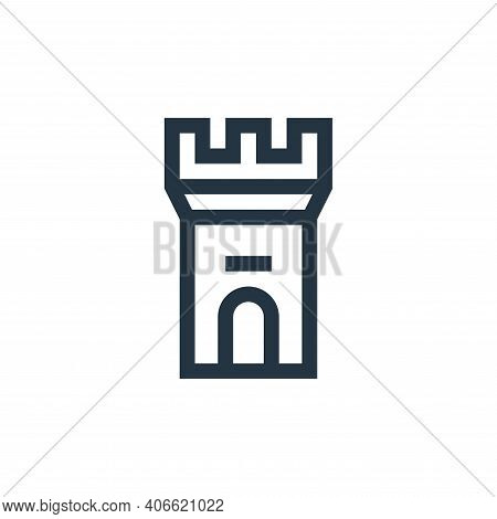 fortress icon isolated on white background from history collection. fortress icon thin line outline