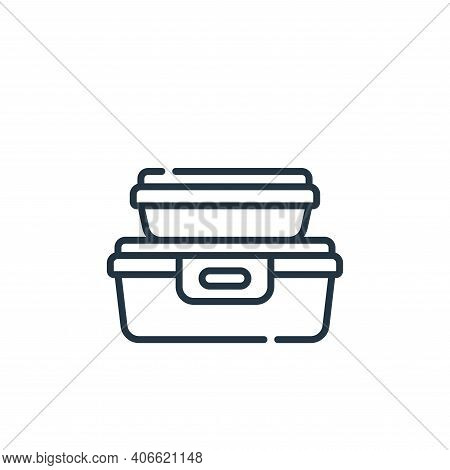 food container icon isolated on white background from plastic products collection. food container ic