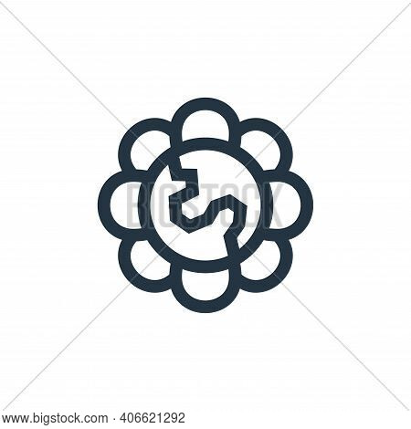 flower icon isolated on white background from mother earth day collection. flower icon thin line out