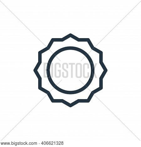 flower icon isolated on white background from holiday collection. flower icon thin line outline line
