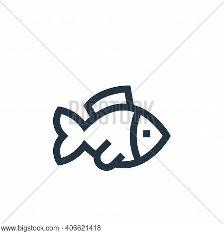 fish icon isolated on white background from pet shop collection. fish icon thin line outline linear