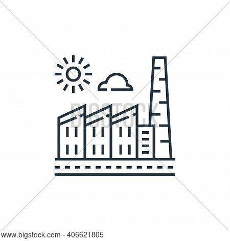 factory icon isolated on white background from environment and eco collection. factory icon thin lin