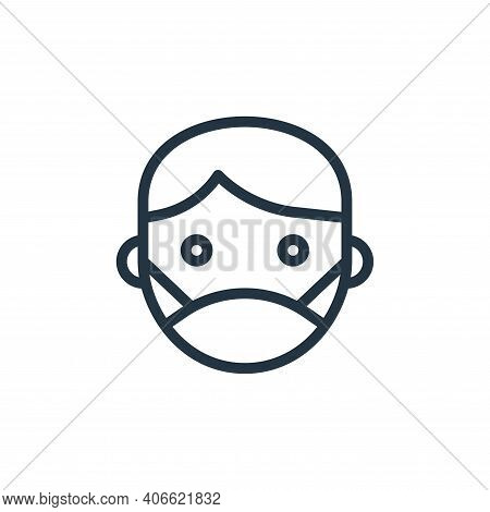 facial mask icon isolated on white background from coronavirus collection. facial mask icon thin lin
