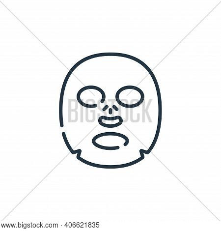 facial mask icon isolated on white background from hairdressing and barber shop collection. facial m