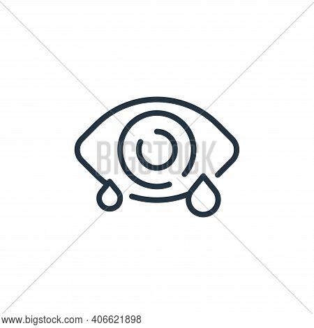 eye icon isolated on white background from virus transmission collection. eye icon thin line outline